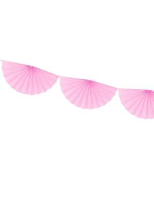 Virtene no rozetēm, gaiši rozā, 30 cm x 3 m