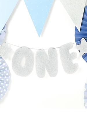 Banner 1st Birthday - One, 11.5 x 50 cm