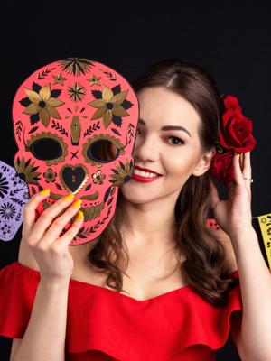 Maska Mirušo diena, sarkana, 19 x 28 cm
