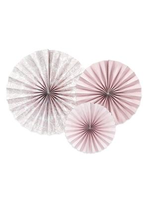 3 gab, Dekoratīvās rozetes Peonijas, 25, 32, 38 cm