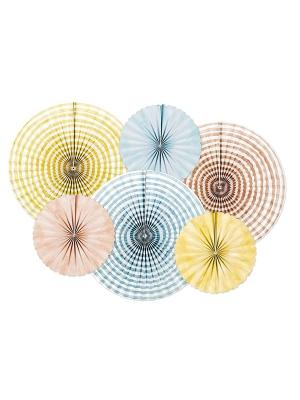 6 gab, Dekoratīvās rozetes Vasaras laiks, 25, 40 cm