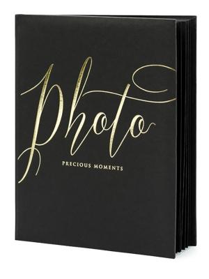 22 lpp, Foto albums, melns ar zeltu, 20 x 24.5 cm