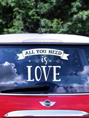 Wedding day car sticker, 33 x 45 cm