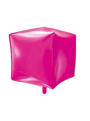 Kubs, tumši rozā, 35 x 35 x 35 cm