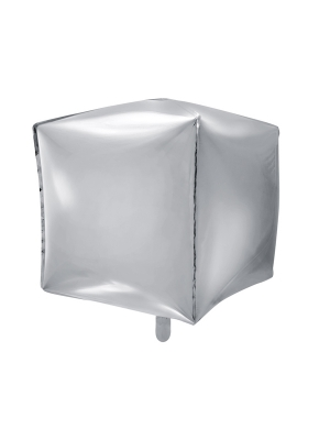 Cubic, silver, 35 x 35 x 35 cm