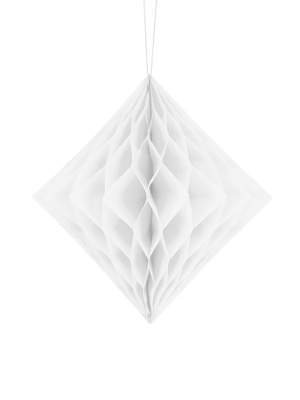 Honeycomb Diamond, white, 20 cm