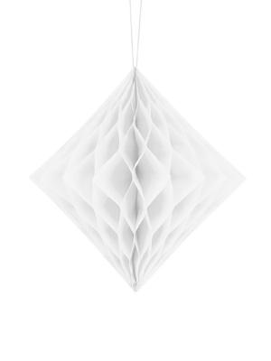 Honeycomb Diamond, white, 20 cm