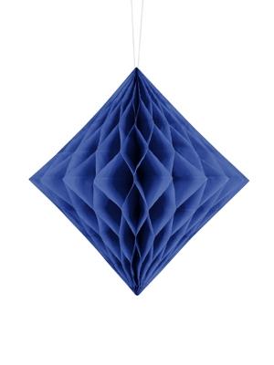 Papīra Dimants, tumši zils, 20 cm