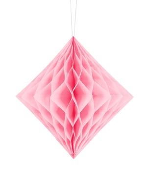 Papīra Dimants, gaiši rozā, 20 cm