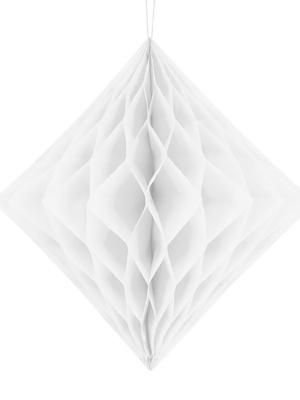Papīra Dimants, balts, 30 cm