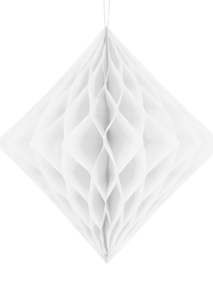 Honeycomb Diamond, white, 30 cm