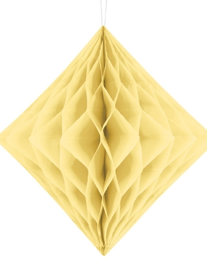 Honeycomb Diamond, cream, 30 cm