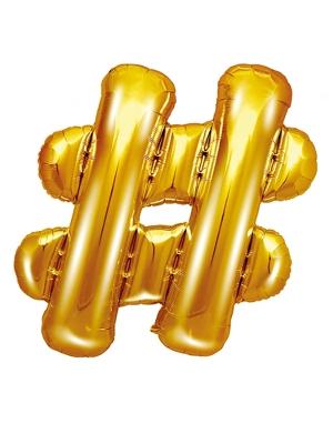 Folijas balons, #, zelts, 35 cm