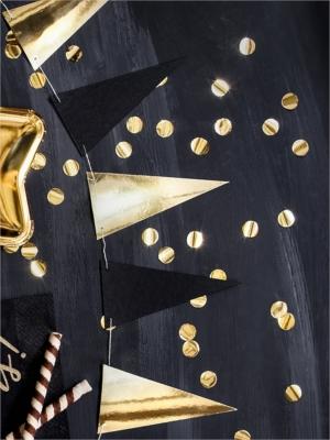Virtene - 14 karodziņi, zelts ar melnu, 13 cm x 2.15 m
