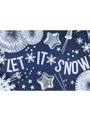 Baneris Lai snieg, hologrāfisks balts, 13 x 170 cm