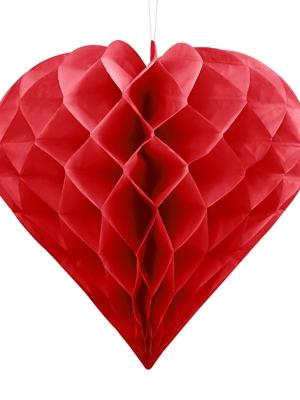 Papīra Sirds, sarkana, 30 cm