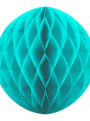 Papīra bumba, tirkīza, 40 cm