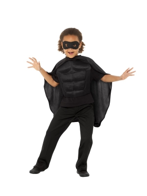 Super varoņa komplekts, melns