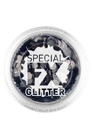 Confetti Glitter, Black, 2 g