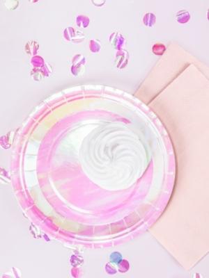 6 gab, šķīvīši, varavīksnes krāsās, 18 cm