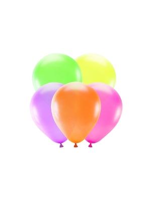 5 pcs, Neon Balloons, 25 cm