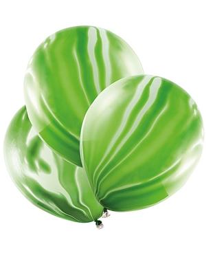 6 pcs, Marble Balloons, light green, 30cm