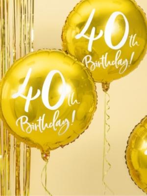Aplis, 40th Birthday, zelta, 45 cm
