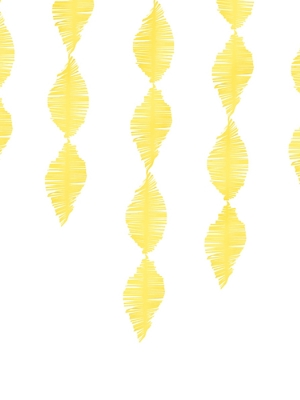 Strēmele no kreppapīra, dzeltena, 15 x 300 cm