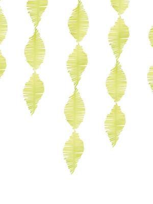 Strēmele no kreppapīra, zaļš ābols, 15 x 300 cm