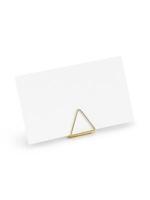 10 gab, Galda karšu turētājs Trijstūri, zelta, 2.3 cm