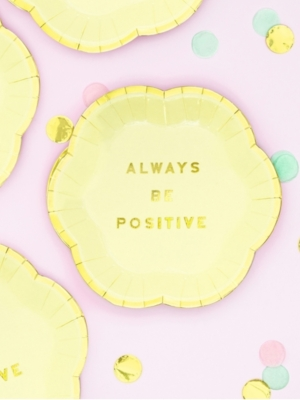 6 gab, Mini šķīvīši - Always Be Positive, 13 cm