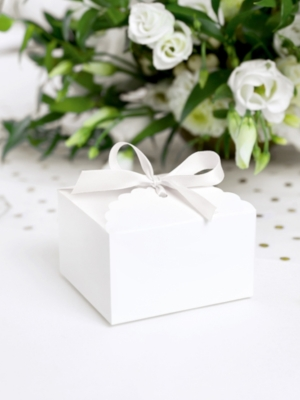 10 pcs, Boxes - Cloud, white, 8 x 7.5 x 4.5 cm