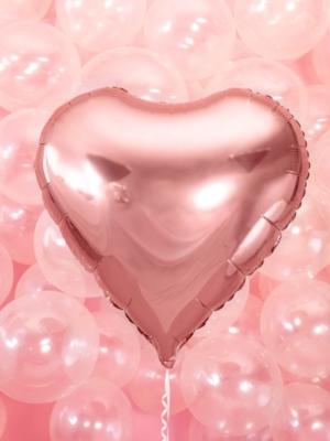 Sirds, rozā zelts, 61 cm