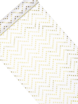 Decorative interlining - Stars, gold, 36 cm x 9 m