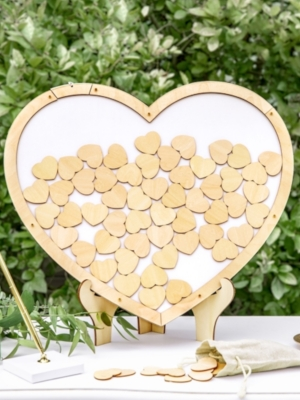 Wooden guest book - Heart, 44 x 37.5 cm
