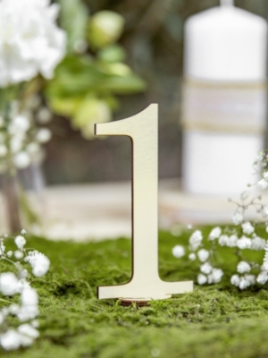 10 pcs, Wooden table numbers, 10.5 cm
