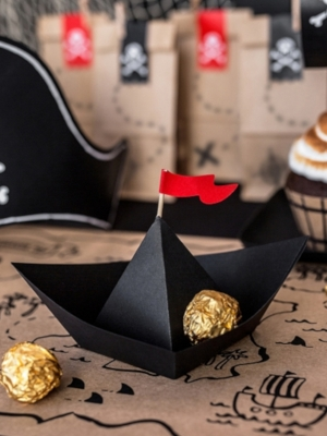 6 pcs, Paper decorations Pirates Party - Boats, 19 x 10 x 14 cm