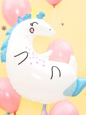 Foil Balloon Unicorn, 70 x 75 cm