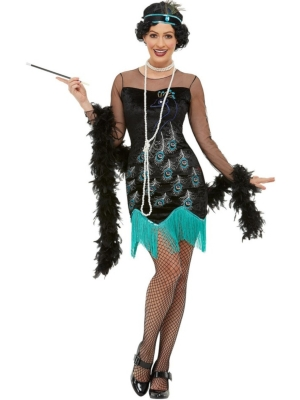 20s Peacock Flapper Costume