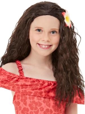 Girls Hawaiian Princess Wig