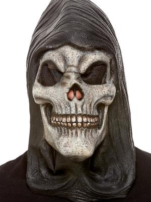 Hooded Skeleton Latex Mask