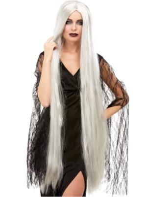 Парик Хэллоуина, серый, 120 см
