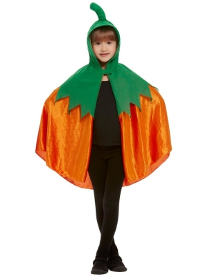 Pumpkin Hooded Cape