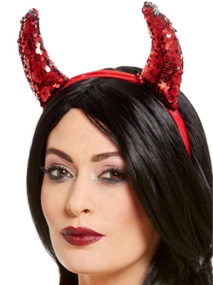 Reversible Sequin Devil Horns