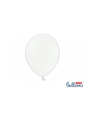 50 pcs, Strong Balloons, Pastel Pure White, 27cm