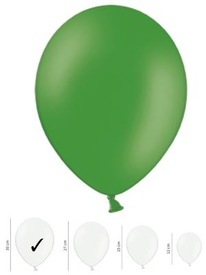 50 gb, Pasteļtoņu baloni, smaragdzaļi, 30 cm