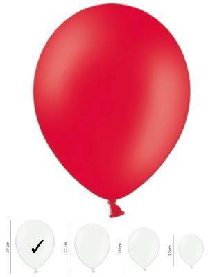 50 gb, Pasteļtoņu baloni, magoņu sarkanā krāsā, 30 cm