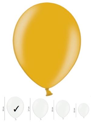 50 gb, Perlamutra baloni, zelta, 30 cm
