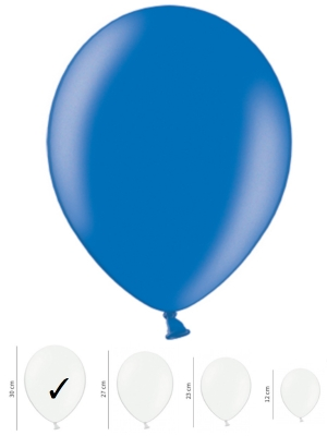 50 gb, Perlamutra baloni, zili, 30 cm