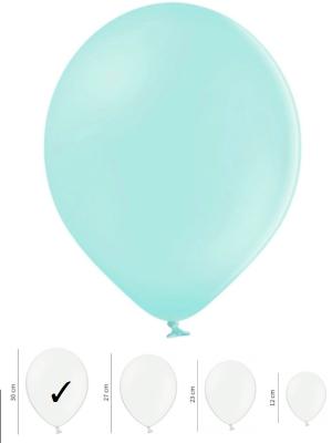 50 шт, Пастельные шары, светло-мятные, 30см